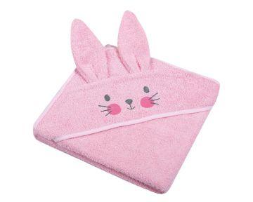 """Rankšluostis vaikui su aplikacija """"Bunny"""" 80x80 cm rožinis"""