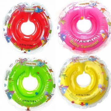 Plaukimo ratas kūdikiams ant kaklo, 6-36kg su barškučiu