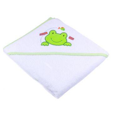 Kūdikio rankšluostis su gobtuvu ir varlyte