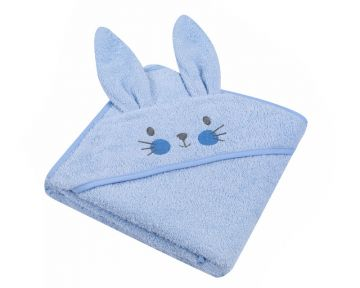 """Rankšluostis vaikui su aplikacija """"Bunny"""" 80x80 cm melsvas"""