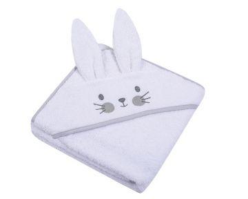 """Rankšluostis vaikui su aplikacija """"Bunny"""" 80x80 cm baltas"""