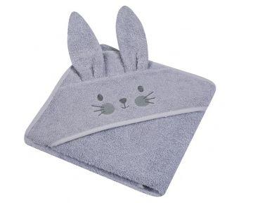 """Rankšluostis vaikui su aplikacija """"Bunny"""" 80x80 cm pilkas"""