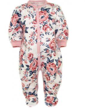 """Šliaužtinukai kūdikiui """"Flora"""" rausvi"""