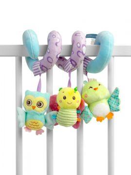 """Minkštas žaislas spiralė kūdikiui """"Owl"""""""